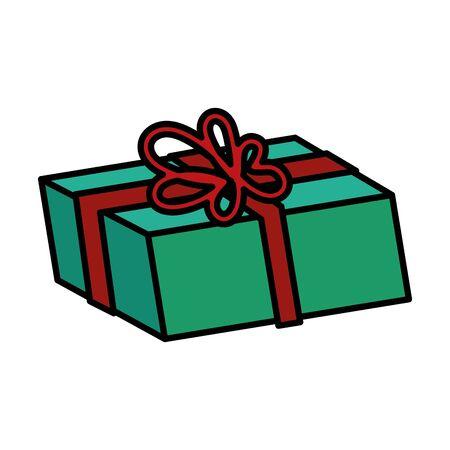 gift box present isolated icon vector illustration design Stock Illustratie
