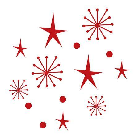 merry christmas snowflakes pattern background vector illustration design Illusztráció