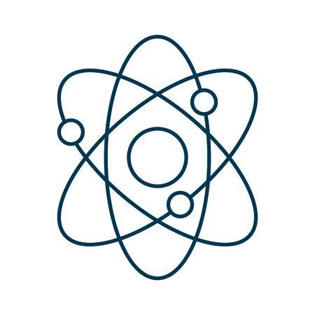 atom molecule science isolated icon vector illustration design Vektoros illusztráció