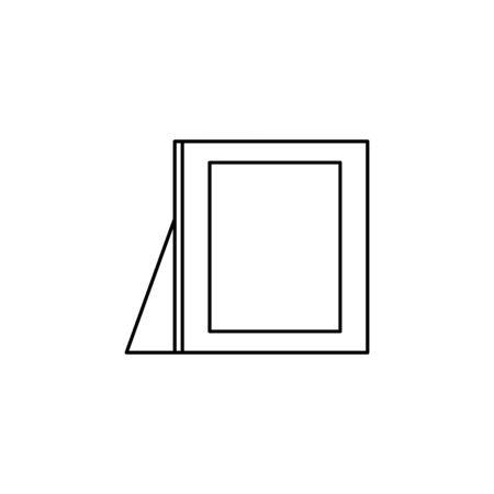 wooden portrait picture line style icon vector illustration design Imagens - 133998461