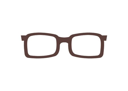 eyeglasses optical accessory isolated icon vector illustration design  イラスト・ベクター素材