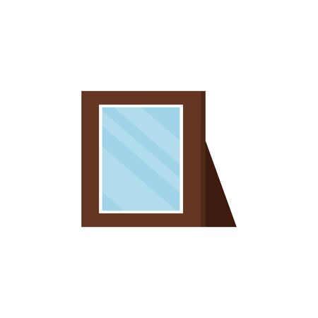 wooden portrait picture isolated icon vector illustration design Banque d'images - 134031160