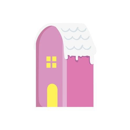 house with snow isolated icon vector illustration design Standard-Bild - 134031244