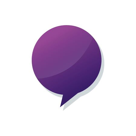 speech bubble communication isolated icon vector illustration design Çizim