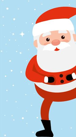 merry christmas santa claus character vector illustration design