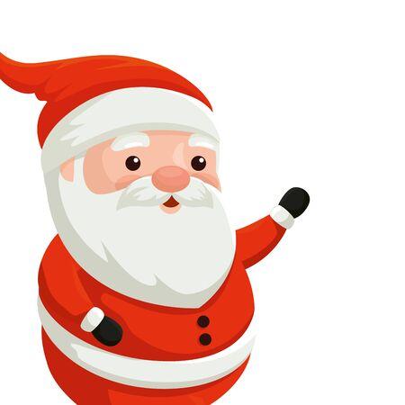 santa claus character merry christmas vector illustration design