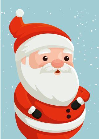 merry christmas santa claus character vector illustration design