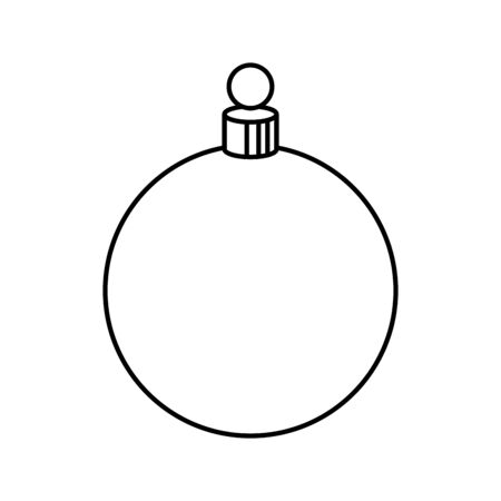 ball christmas decoration line style vector illustration design