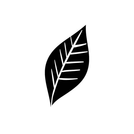 silhouette of leaf nature ecology isolated icon vector illustration design 스톡 콘텐츠 - 134049991