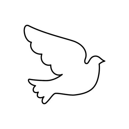 dove animal line style icon vector illustration design  イラスト・ベクター素材