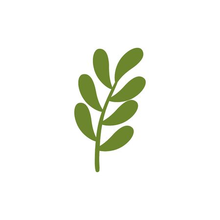 branch with leafs nature ecology isolated icon vector illustration design