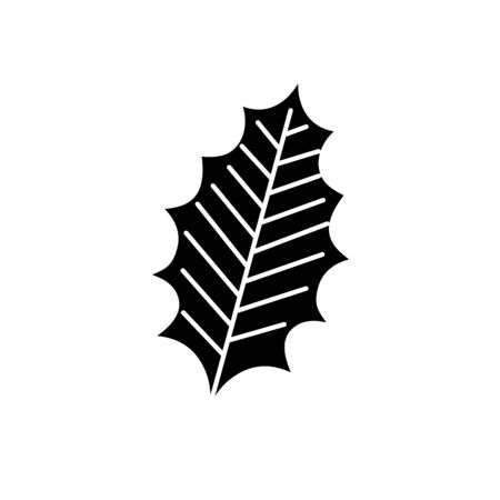 silhouette of leaf nature ecology isolated icon vector illustration design 일러스트