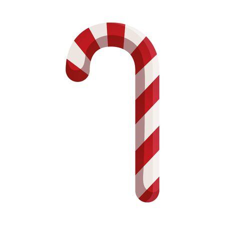 sweet cane christmas isolated icon vector illustration design Ilustração