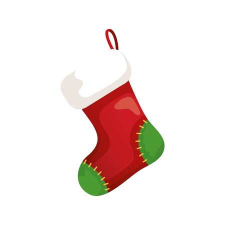 sock christmas decorative isolated icon vector illustration design