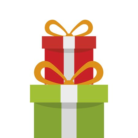 gift boxes present isolated icon vector illustration design