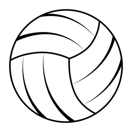 balloon volleyball sport isolated icon vector illustration design