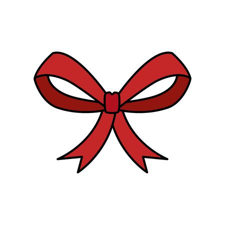 bow ribbon christmas decorative isolated icon vector illustration design