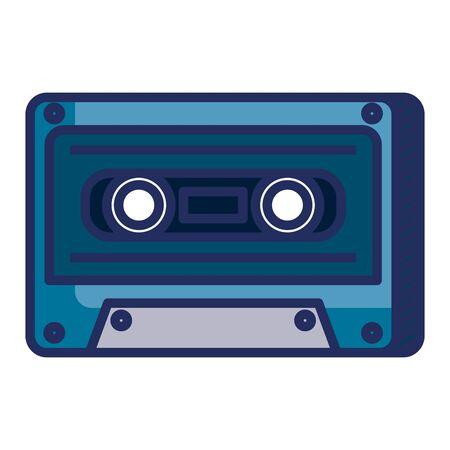 audio cassette record musical icon vector illustration design