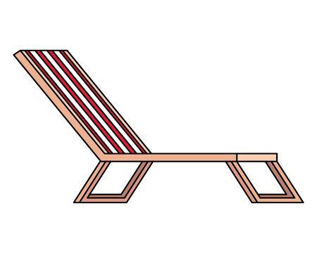 beach chair confort isolated icon vector illustration design Illustration