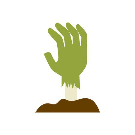 hand of zombie for halloween vector illustration design Illustration