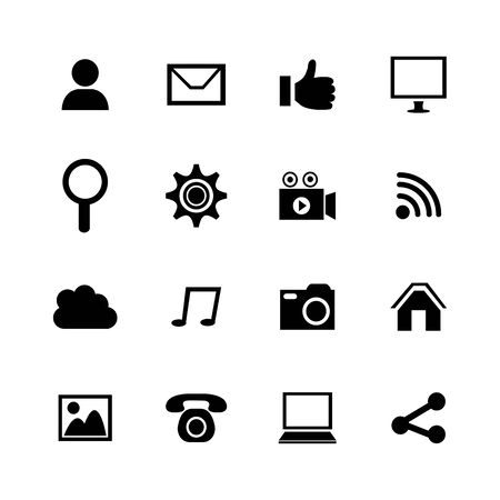 bundle social media set icons vector illustration design