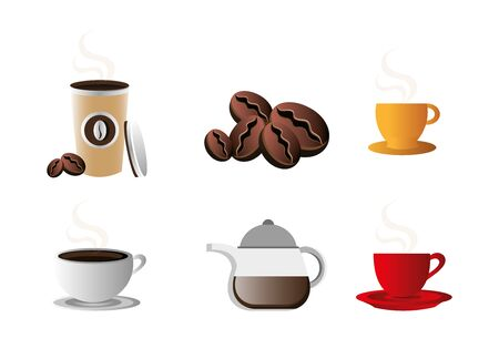 bundle coffee of set icons vector illustration design