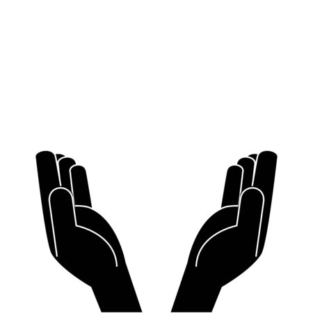hands receiving human isolated icon vector illustration design
