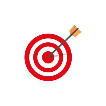 target with arrow isolated icon vector illustration design Stock Illustratie