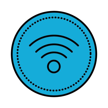 wifi waves signal isolated icon vector illustration design