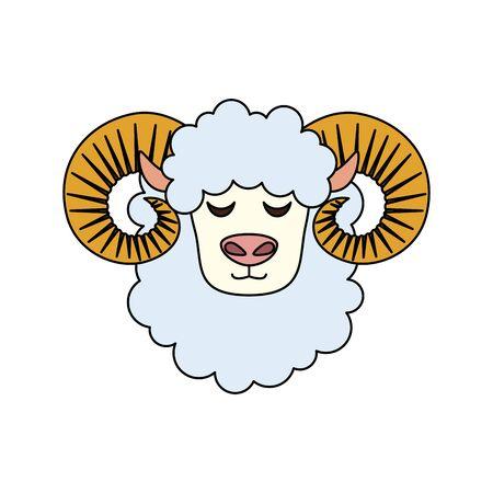 cute lamb farm animal icon vector illustration design 向量圖像