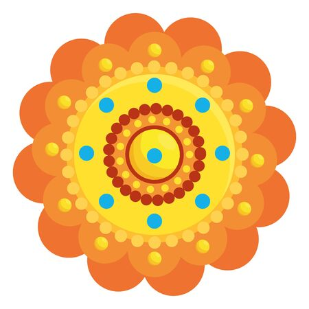 decorative mandala ethnic boho style vector illustration design