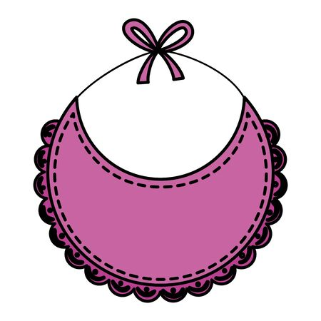 baby bib isolated icon vector illustration design Standard-Bild - 134237138