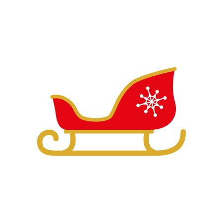 sled santa claus isolated icon vector illustration design