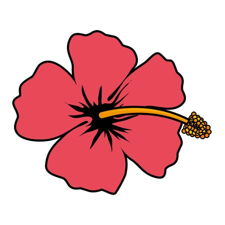 exotic tropical flower icon vector illustration design
