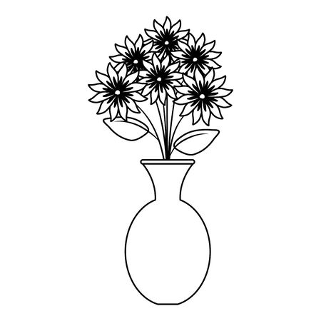 vase with flowers icon vector illustration design Stock fotó - 134324672
