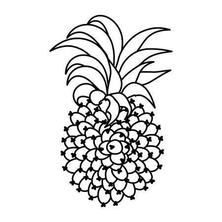 exotic pineapple fruit icon vector illustration design