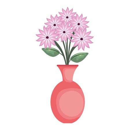 vase with flowers icon vector illustration design Stock fotó - 134305787