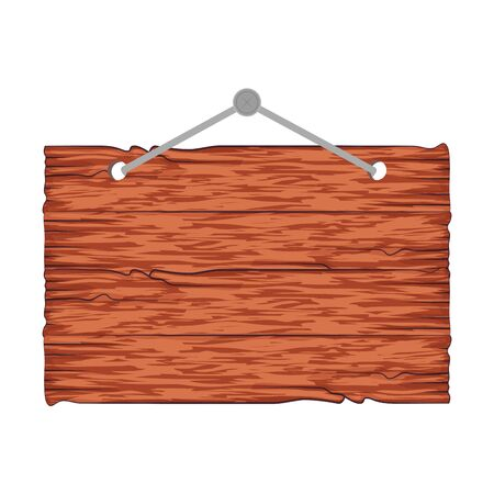wooden label hanging icon vector illustration design Banque d'images - 134309293