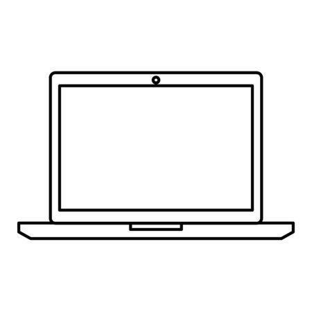 laptop computer device technology icon vector illustration design Illustration