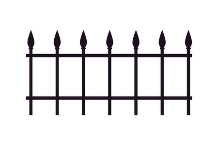 fence iron cemetery isolated icon vector illustration design 矢量图像