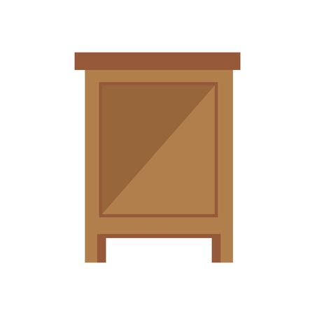 wooden drawer forniture isolated icon vector illustration design Stockfoto - 134315762