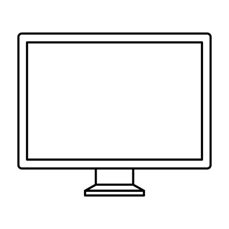 desktop computer monitor isolated icon vector illustration design Illustration