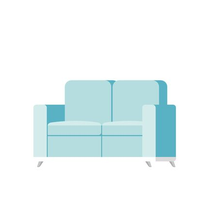 comfortable sofa livingroom equipment icon vector illustration design