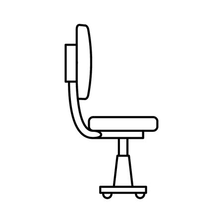 office chair equipment isolated icon vector illustration design Banque d'images - 134384199