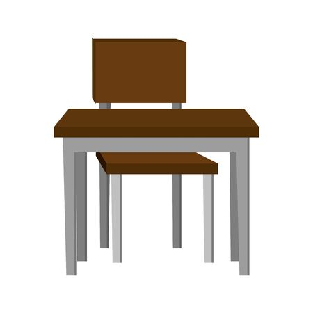 schooldesk with chair education icon vector illustration design
