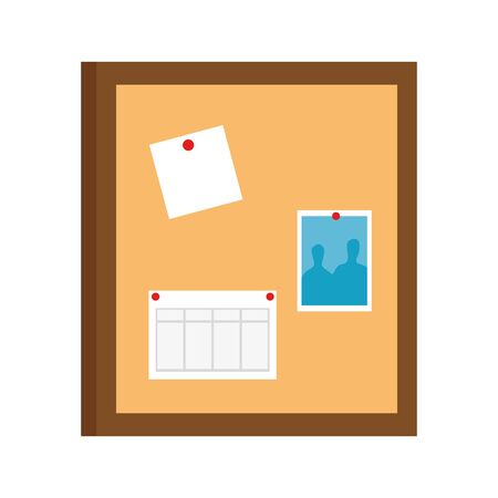 office notes board isolated icon vector illustration design
