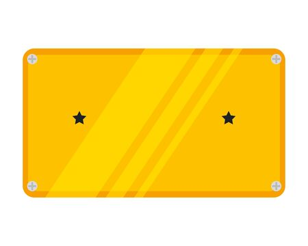 metal plate with stars icon vector illustration design 向量圖像