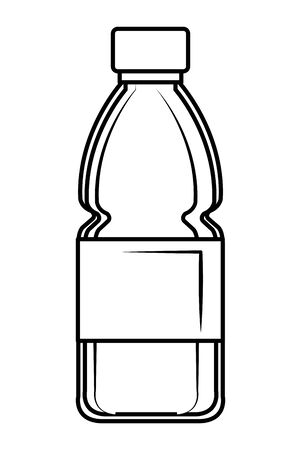 plastic bottle recycle icon vector illustration design  イラスト・ベクター素材