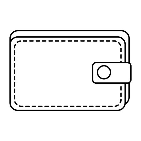 wallet money financial isolated icon vector illustration design 向量圖像