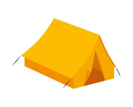 tent camping accessory isolated icon vector illustration design 向量圖像